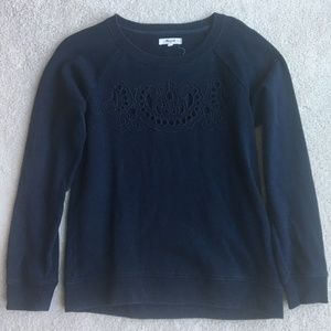 Madewell Embroidered Crew Neck Sweater